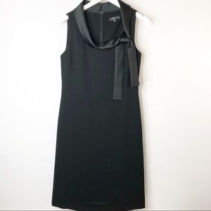 Trio Silk Blend Black Sheath Dress Size 8